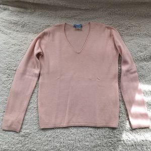 White + Warren Cashmere Pale Pink Sweater